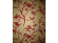 John Lewis red Japanese Tree wallpaper