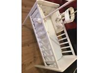 Mothercare crib with accessories