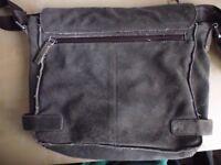 Leather Messenger Bag, Real leather satchel.