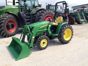 John Deere 3032E compact tractor and loader