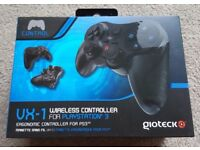 NEW SEALED GIOTECK VX1 WIRELESS CONTROLLER FOR PS3 PLAYSTATION 3.