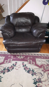 Big comfy brown leather chair