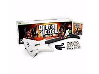 Guitar hero 3 legends of rock game + Guitar for Xbox360