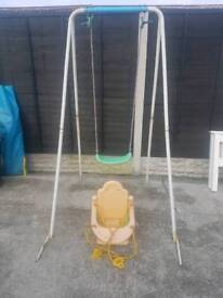 Kids swing with 2 seats baby&toddler