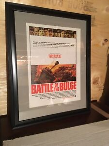 Battle of the bulge movie ad framed army