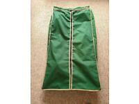 Green canvas wardrobe
