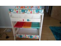 Selling cosatto channels changing table with baby bath