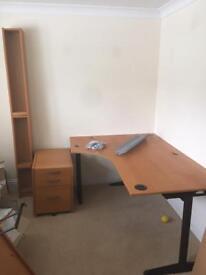 Desk, drawers & storage unit