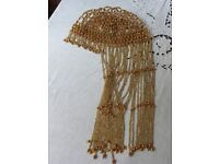 Gold Beaded Woman's Headress