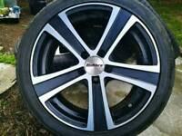 Calibre highway 18 inch alloy wheels.