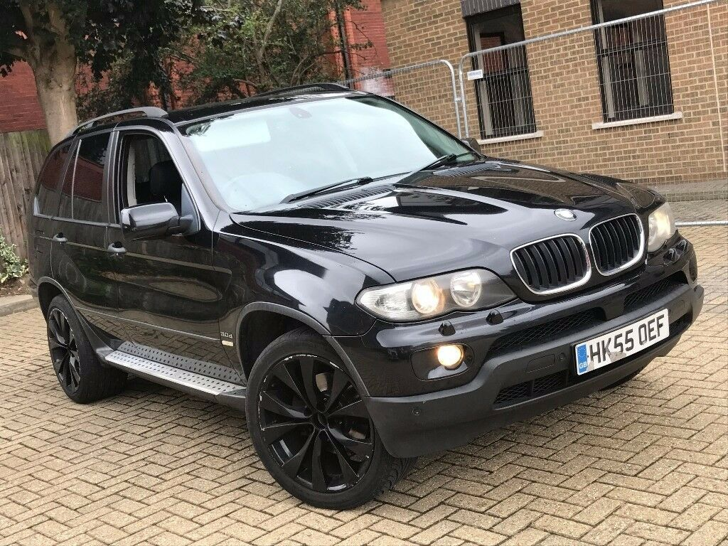 2005 bmw x5 3 0 d sport diesel automatic black 4x4 jeep mot great drive spacious not 5 7 3. Black Bedroom Furniture Sets. Home Design Ideas