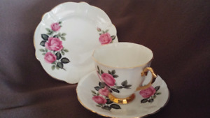 Vintage Royal Imperial Fine Bone China Trio Set