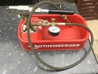 Rothenberger Pressure Test Pump for sale