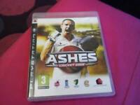 Ashes cricket PS3 game
