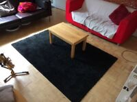 IKEA black rug for sale, £20 good size ideal for bedroom or living room