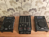 Kam CDJ Pair with Behringer Mixer