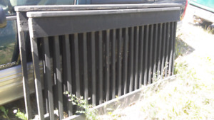 Two pieces of deck railing.