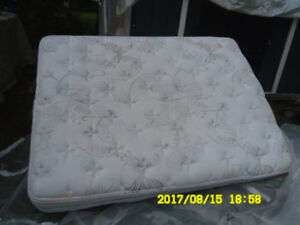Double mattress with built in box spring
