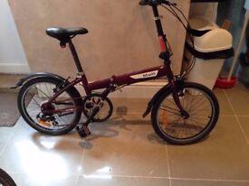 Folding Bike - Decathlon Btwin Hoptown 5 road bike commuter hybrid Bicycle Aluminum Frame 6061