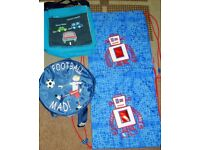 robot bags never used (clarks) £2 each, football mad and vroom £1 each or £4 the lot
