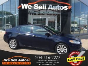 2015 Dodge Dart Limited *A/C *AUX *ALLOY WHEELS *LTHR *CAM *USB