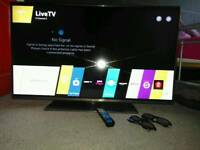 LG 47 inch LED 3D 500Hz TV with Wi-Fi WebOS Apps and Freeview HD