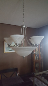 Gorgeous Pewter Dining Room Light
