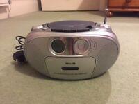 Philips AZ1022 CD radio cassette recorder