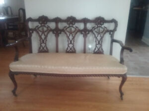 1920's ANTIQUE CARVED MATCHING 3 PIECES SETTEE $1200 OBO