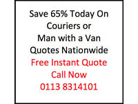 Man with a Van or Courier Leeds - Discount Prices Save 65% on your next delivery