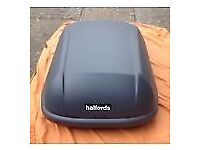 Halfords 420 Litre Top Box - Barely used and 100% complete.