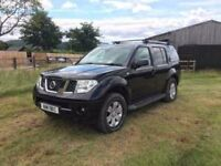 NISSAN PATHFINDER 2005/6 DIESEL MANUAL BLACK LEATHER ALLOYS REVERSE CAM 4X4 OFFROAD PROJECT