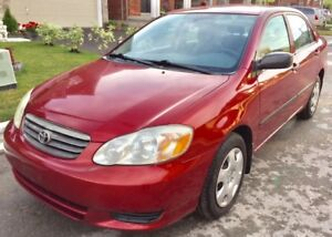 2003 Toyota Corolla Auto, Low Ks, No Accidents, Clean, CERTIFIED