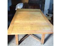light oak extendable table