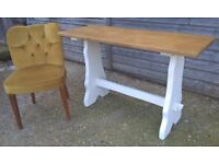 Antique Oak Console/Side Vintage Table ~ Shabby Chic *Delivery Possible* (kitchen sideboard dresser)