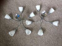 2 Ceiling pendant light fittings