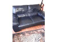 2 steeter leather sofa