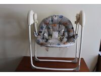 Baby swing seat with birds for sale, Battery powered 3 swing settings and lullabies
