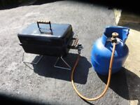 Portable Barbeque and Gas Cylinder