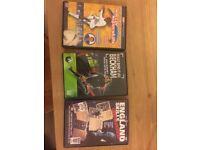 Various football training DVDs