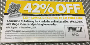 Admission Coupon to Calaway park