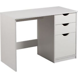 Pagnell 3 Drawer Desk - White