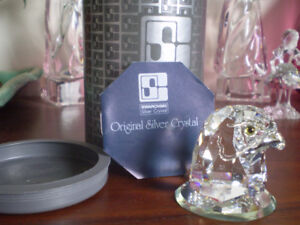 "Swarovski Crystal Figurine - "" Eagle Head "" -"