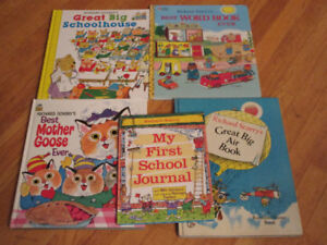 5 Richard Scarry Books - Great condition Makes learning fun..