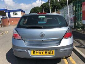 2007 (57 reg) Vauxhall Astra 1.4 i 16v Club 5dr Hatchback Low Miles