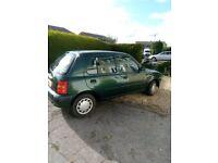 nissan micra 1999 auto 1.0l 5 door green