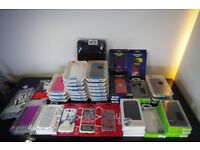 Lot of approx 50 Samsung and iPhone cases and covers
