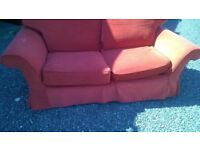 2 x2 seater fabric sofas