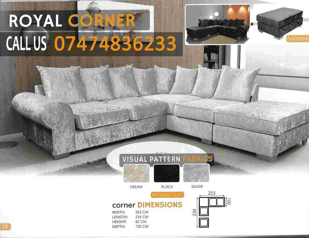 Royal Corner sofa brand new ezHAin Hull, East YorkshireGumtree - FOXFURNITURE brand new products.Delivery availablecash on deliverylot of colors availablecall us about this product or any other furniture products you want.PRICE MENTION ONLY FOR 3 2 click see all ads to see other ads or products