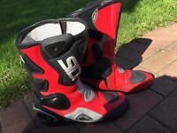 Sidi boots motorcycle motorbike used with box RED size 45 10